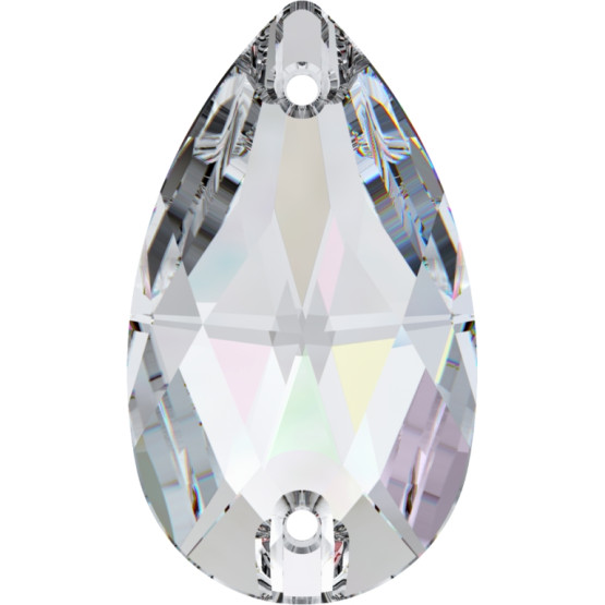 SWAROVSKI Crystal sew on stone 28 x 17 mm Crystal AB 3230