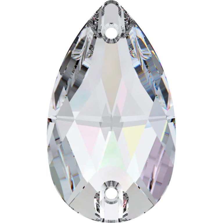 SWAROVSKI Crystal sew on stone 28 x 17 mm Crystal AB 3230