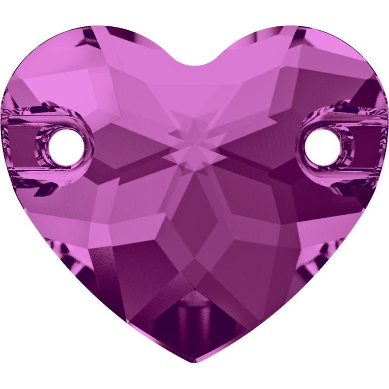 swarovski heart, swarovski heart sew on stone, swarovski heart 3259, swarovski heart fuschia 502, xswarovski best seller, irish dancing stones