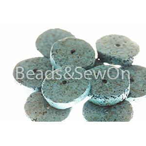 Eco beads Disc blue