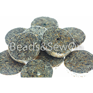 Eco beads Disc brown