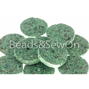 Eco beads Disc green