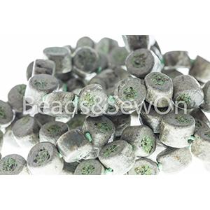 Eco Beads Drum Stone Green