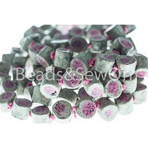 Eco Beads Drum Stone Pink