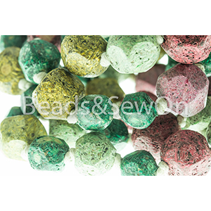 Eco Beads Fac Round Mix Green
