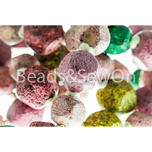 Eco Beads Fac Round Mix pink