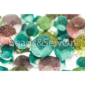 Eco Beads Fac Round Mix Turquoise