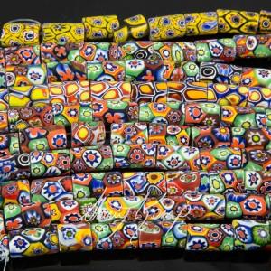 Modern Millifiori 'Trade' Beads-6515