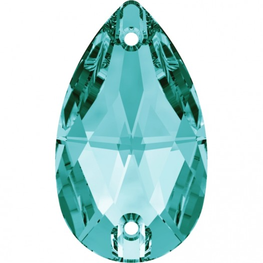 Swarovski Sew On Stone 3230 Pear shape, Lt Blue Zircon 229