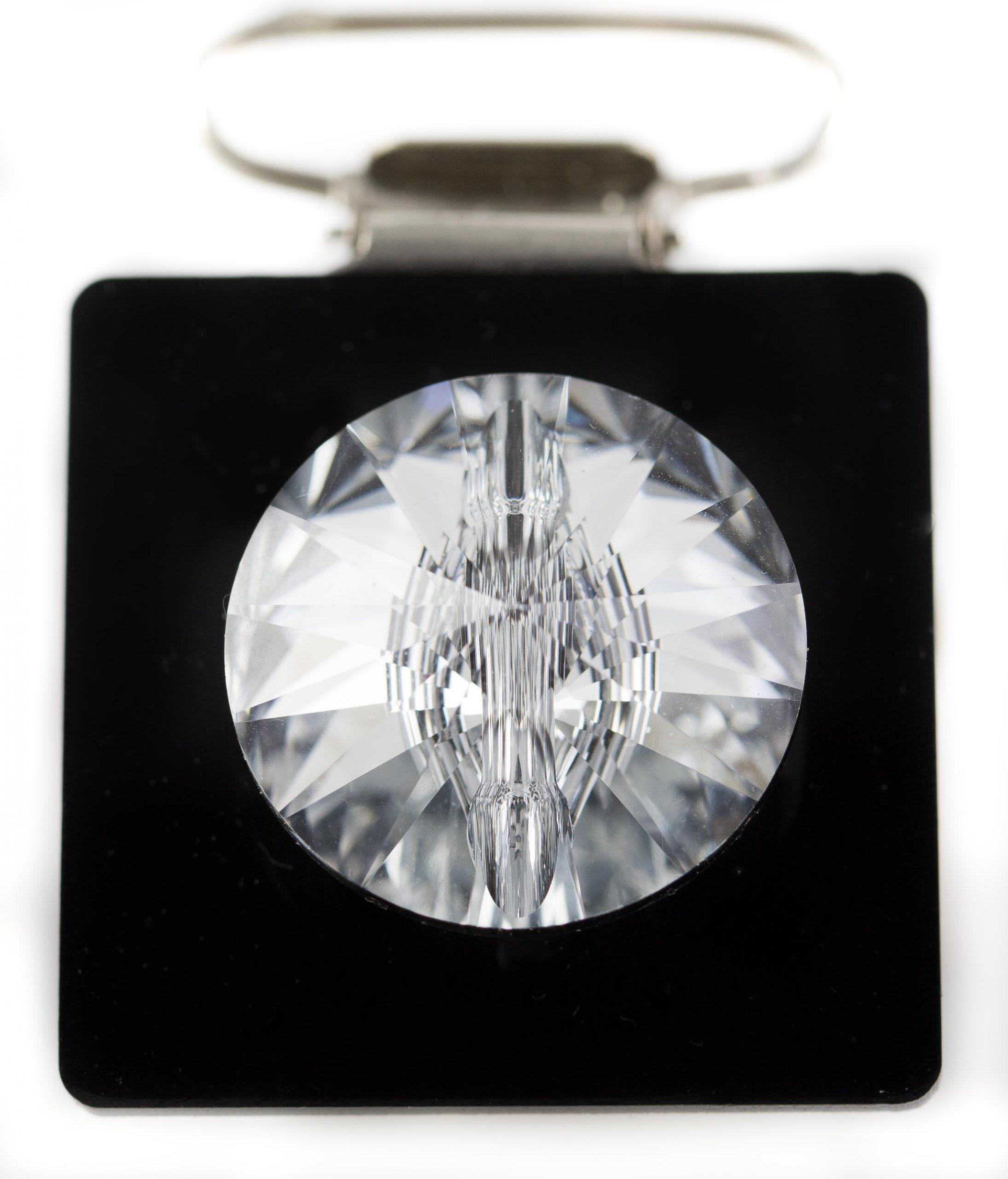 Irish dancing number holder Clip 35 mm Round Crystal
