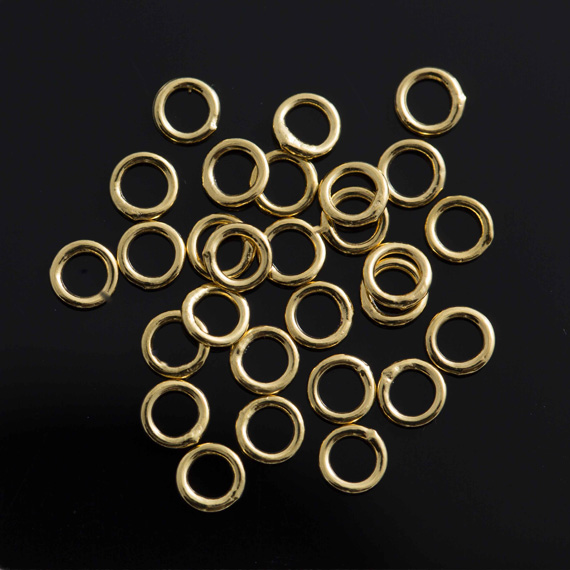 Gold Plate 4mm Jump Rings