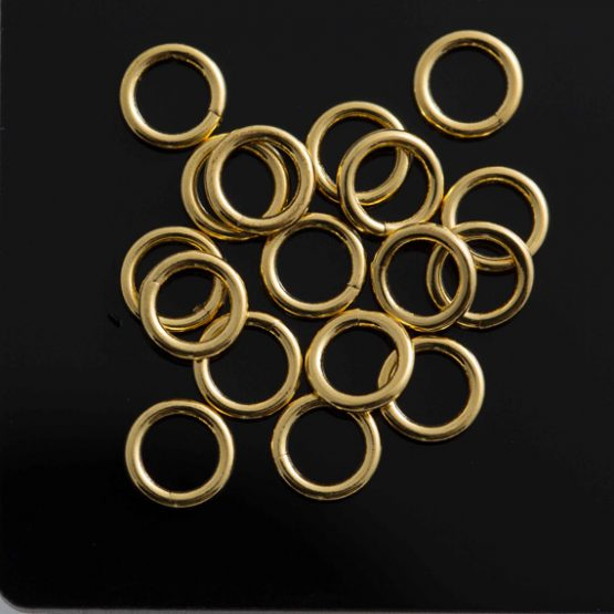 Gold Plate 6mm Jump Rings