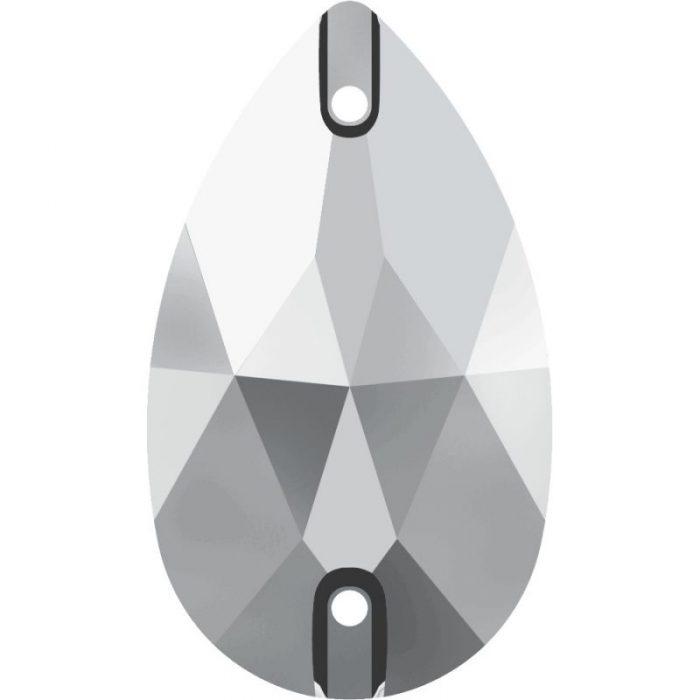 Swarovski Sew On Stone, Pear shape 3230, Colour LIGHT CHROME