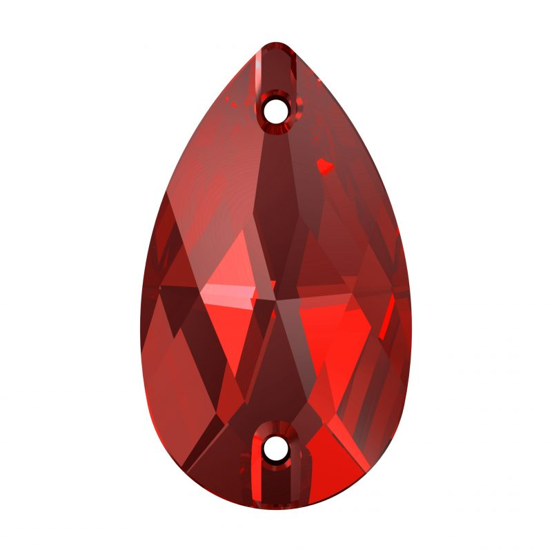 Swarovski Sew On Stone 3230 Pear shape LIGHT SIAM 227