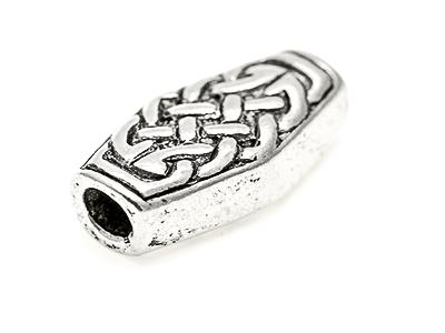 Celtic knot work bead 16x6mm Urn shape, 3 mm hole