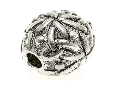 Celtic knot work bead 18mm sphere shape, 3 mm hole