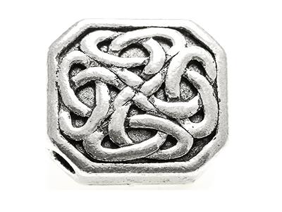 Celtic knot work bead 16x16mm Square shape, 3 mm hole